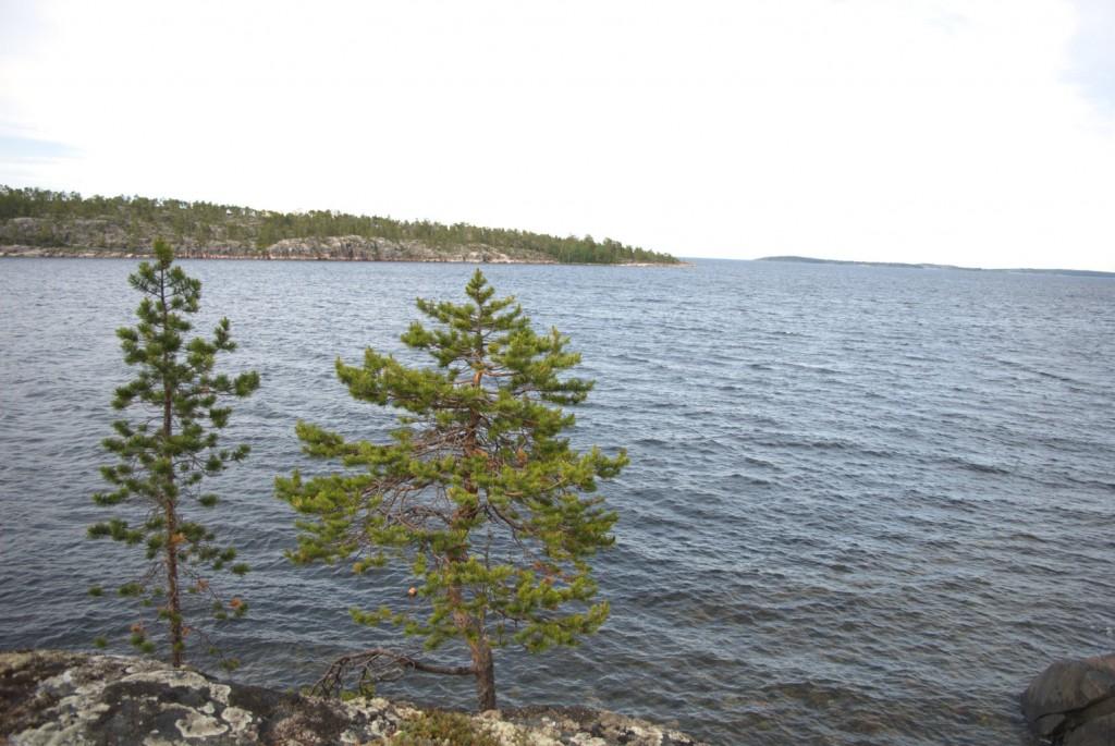 Der Chupa-Fjord an der Küste von Chupa