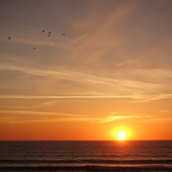 traumhafter Sonnenuntergang über dem Atlantik