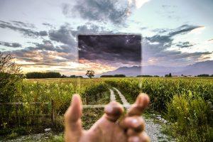 Blick in Natur mit Filterglas