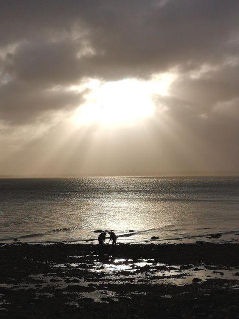 Sonne Gegenlicht am Strand