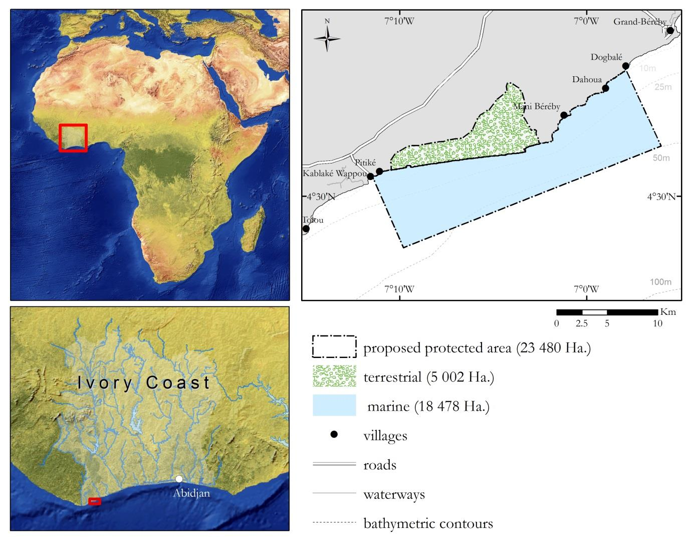 Marine Protected Area west of Grand Bereby, Cote d'Ivoire